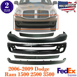 Front Steel Bumper Air Dam Step Pad Filler For 2006 09 Dodge Ram 1500 2500 3500