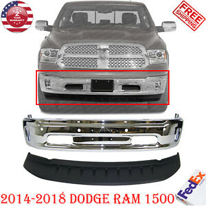 Front Bumper Chrome Lower Valance Air Dam Textured For 2013 2018 Ram 1500