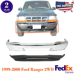 Front Bumper Chrome Styleside Textured Valance For 1999 2000 Ford Ranger 2wd