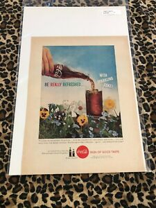 COCA COLA Ad Advertisement 1960 BE REALLY REFRESHED SPARKLING COKE Vintage c536