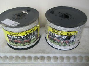 Lot Of 2 Rolls Baygard Equi tape 492 Ft Electric Fence Tape Livestock Cattle