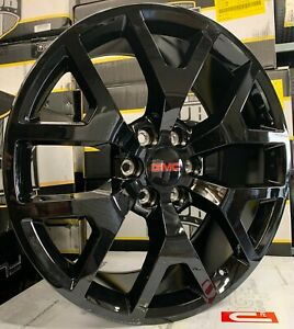 26 Gmc Yukon Sierra Black Wheels Chevy Tahoe Silverado Suburban Rims Tires New