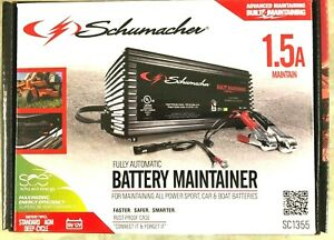 Schumacher Automatic Battery Maintainer 6v 12v Cars Boat Powered 1 5a
