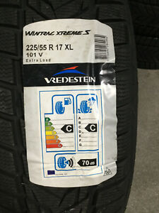 4 New 225 55 17 Vredestein Wintrac Xtreme S Snow Tires