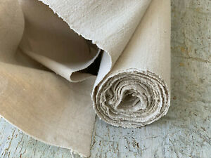 Antique Linen Cotton Fabric By The Yard European Vintage Upholstery Textile