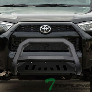 Topline For 2010 2021 Toyota 4runner Avt Bull Bar Bumper Grille Guard Matte Blk