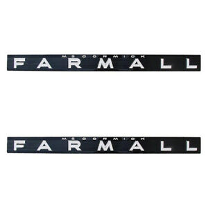 377796r1 Set Of 2 Side Emblems For Farmall Tractors 504 656 706 806 1206