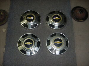 Set Of 4 1973 1987 3 4 Ton Chevy Pick up Truck C20 12 Dog Dish Hubcaps 1972
