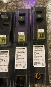 Square D Hom115pcafic Homeline 15a 1 pole Arc Fault Circuit Breaker 10pack