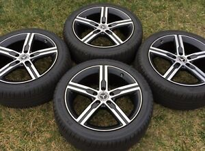 4 New 2020 18 Oem Mercedes Benz Cla250 Wheels Michelin Tires Cla A220 A250
