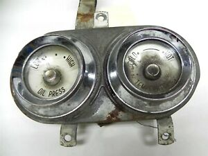 Vintage 1956 Desoto Oem Oil Pressure Temperature Dash Gauges Nice Condition