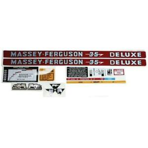 Complete Decal Kit Fits Massey Ferguson Tractor 35 Deluxe