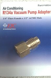 R12 To R134a Adapter 1 4 Female Flare With O ring X 1 2 Acme Male Fjc 6014