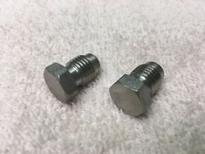 Soda System Fittings Lancer Stainless Fitting Plug 1 4 Male Flare Set Of 2