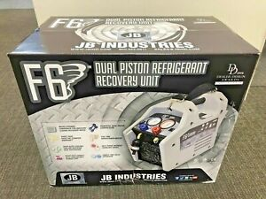 Refrigerant Recovery Machine Jb Industries F6 dp Dual Piston Oil less Fast