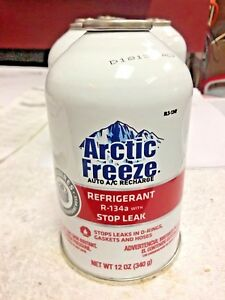 R 134a Refrigerant Stop Leak Arctic Freeze New Epa Required Self Sealing Can
