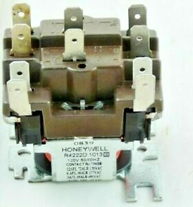 Honeywell General Purpose Relay R4222d1013 Dpdt Relay Switching Coil 120v