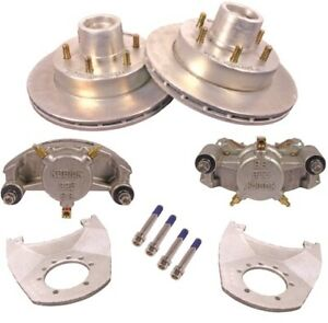 Kodiak 12 Inch Hydraulic Full Trailer Disc Brake Kit Stainless Calipers 1 Axle