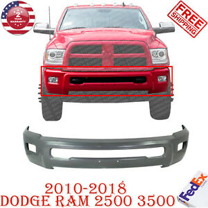 Front Bumper Face Bar Primed With Fog Light Holes For 2010 2018 Ram 2500 3500