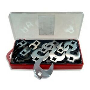 11 Piece 3 8 Drive Sae Crowsfoot Wrench Set V8t7711 Brand New
