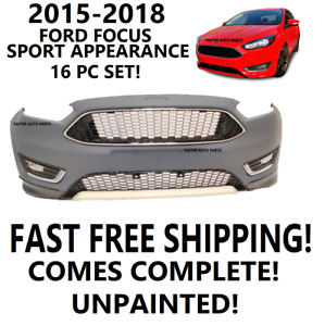 2015 2016 2017 2018 2019 Ford Focus Front Bumper Cover Sport Package New