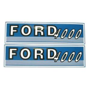 Fjub4000 New Hood Decal Set Fits Ford Fits New Holland Tractor 4000