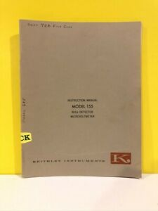 Keithley Models 155 Null Detector Microvoltmeter Instruction Manual