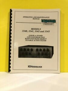 Krohn hite Band pass band reject Tunable Active Filter 3340 3341 3342 3343