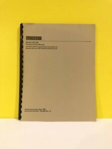 Keithley 220 900 Model 220 And 230 Programmable Sources Programming Manual