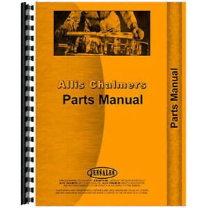 Allis Chalmers U Un Uo Tractor With Continental Engine Parts Manual