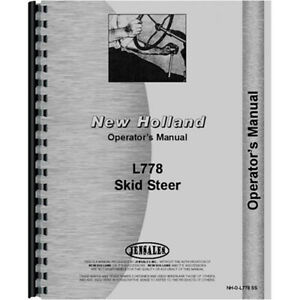 Skid Steer Operators Manual For New Holland L778