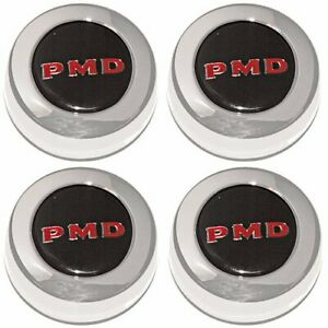 Year One Pd101s Pontiac Center Caps Black With Red Pmd For Rally Ii Wheels 4 pkg