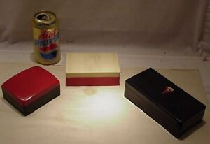 Three Art Deco Hickok And Cutex Boxes