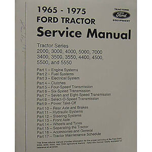 65 75 Shop Manual For Ford New Holland 2000 3000 3400 3500 4400 4500 5000