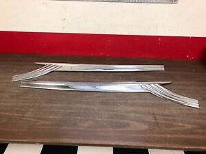 1956 Ford Fairlane Front Door Trim Lh Rh Pair Nos 120
