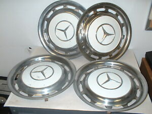 Set Of 4 Used Mercedes Benz 1980 Wheel Cover Hubcap White Box 10s