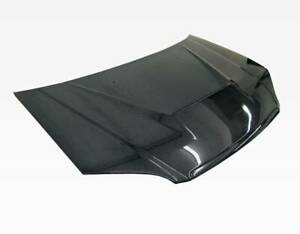 Vis Racing Carbon Fiber Hood Invader For 2001 2003 Honda Civic 2dr 4dr