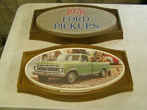 Oem Ford 1976 Truck Pickup Showroom Display Picture Pair F100