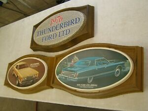 Oem Ford 1976 Thunderbird Ltd Showroom Display Picture Set T bird