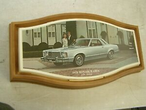 Oem Ford 1976 Mercury Monarch Showroom Display Picture