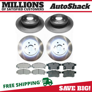 Front And Rear Brake Rotors And Ceramic Pads For 2008 2009 Honda Accord