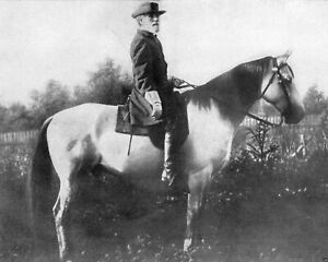 General Robert E Lee With His Horse 8x10 Picture Celebrity Print $3.98