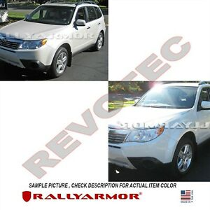 Rally Armor Mud Flaps For 2009 2013 Subaru Forester W White Logo