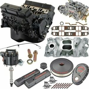 Jegs 7353k5 Small Block Chevy 350ci Crate Engine Kit Pre 1986 Cast Iron Cylinder
