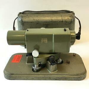 Vintage Wild Heerbrugg Leica Na2 Surveying Level Equipment Precise Level