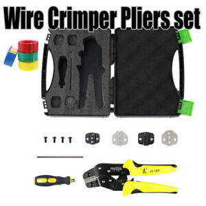 Insulated Cable Connector Terminal Ratchet Crimping Wire Crimper Plier Tool Us