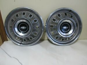 Vintage Pair Of 1967 Chevy Impala Hubcaps