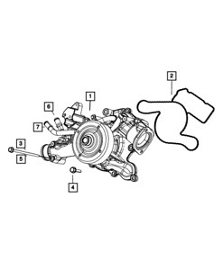 Genuine Mopar Water Pump 68346912aa
