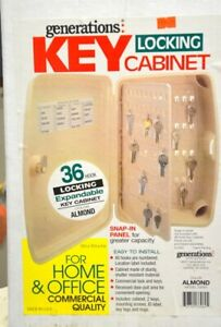 Generations Lockable 36 Key Storage Cabinet For Home Or Office 33060