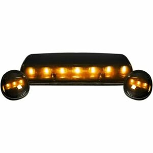 Recon Smoked Lens Amber Led Cab Lights For 2002 2007 Chevy Gmc Silverado Sierra